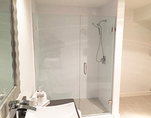 Newly remodeled master bath enclosed shower in Rochester, Minnesota